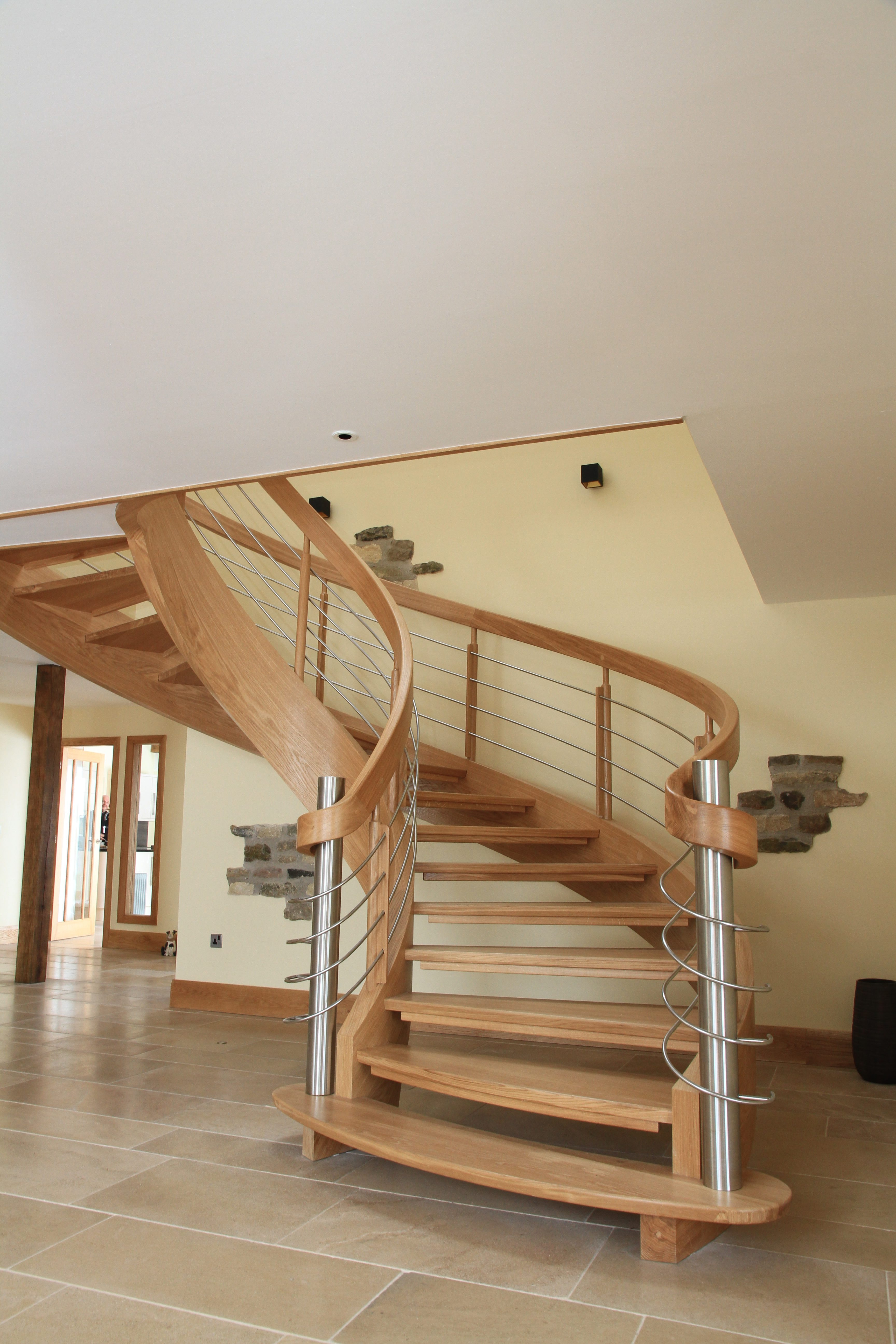 Wooden Spiral Staircases by Silvanus Interiors