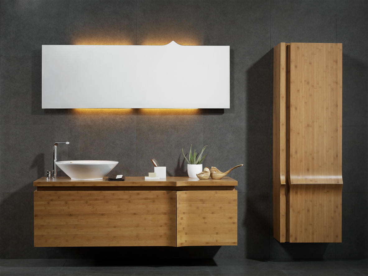 How To Use Wooden Mirrored Cabinets To Revamp Your Bathroom