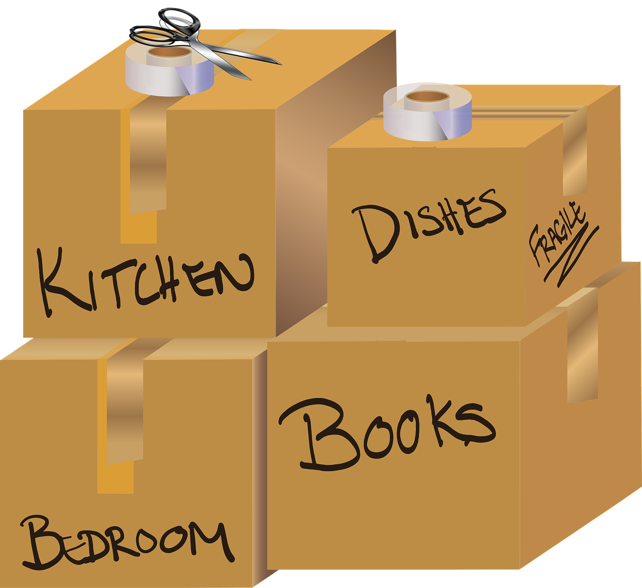 Packing tips when moving to a new home
